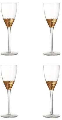 Jay Import Daphne Gold 10 oz. Wine Glass - Set of 4