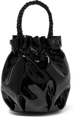STAUD - Grace Patent-leather Tote - Black