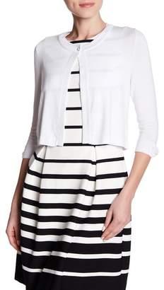 Eliza J 3\u002F4 Length Sleeve One Button Cardigan