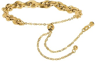 Italian Gold Interlocking Curb Link Bracelet 14K, 4.1g