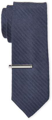 Calvin Klein Slim Textured Stripe Tie