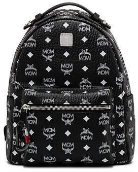 MCM Stark White Logo Visetos Sml Backpack