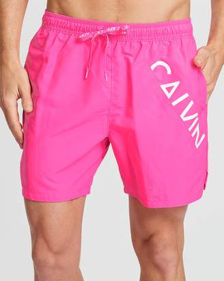 Diagonal Logo Medium Drawstring Shorts