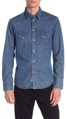 Rag & Bone Beck Chambray Slim Fit Shirt