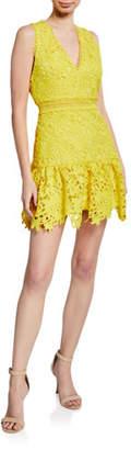 Alice + Olivia Marleen Gathered Fit-&-Flare Dress