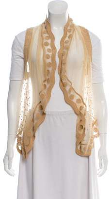Opening Ceremony Embroidered Mesh Vest