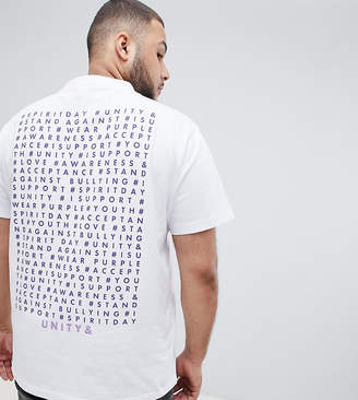 Asos DESIGN x glaad& Plus relaxed t-shirt with Spirit Day back print