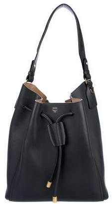 MCM Large Leather Milla Bucket Bag