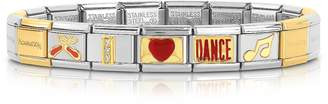Nomination Classic I Love Dance Gold and Stainless Steel Bracelet