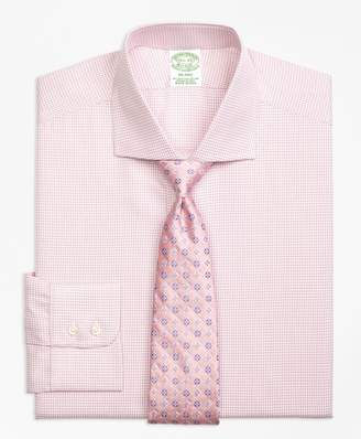 Brooks Brothers Milano Slim-Fit Dress Shirt, Framed Check