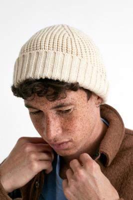 Urban Outfitters Ecru Knit Mini Beanie - beige at