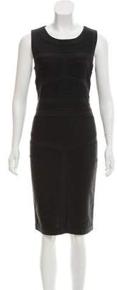 Diane von Furstenberg Wool Accented Sleeveless Dress