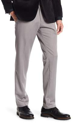 """Kenneth Cole Reaction Urban Heather Slim-Fit Flat Front Dress Pants - 29-34\"""" Inseam"""