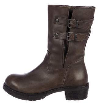 Moma Leather Mid-Calf Boots