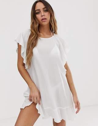 Tavik beach cover up dress in white