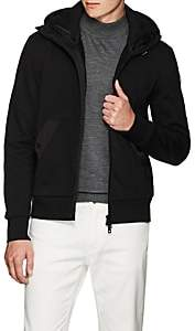 Moncler Men's Double-Hood Cotton Cardigan Jacket - Black
