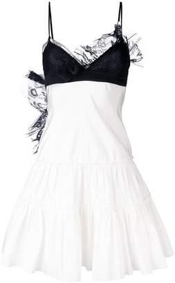 Giambattista Valli contrast lace trim dress
