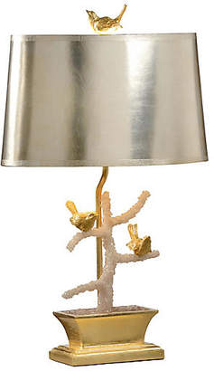 Bird Song Table Lamp - Gold/Pink/Silver - Wildwood