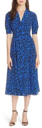 Diane von Furstenberg Cinch Sleeve Shirtdress
