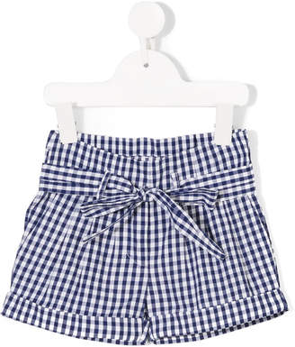 Miss Blumarine gingham bow shorts