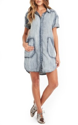 Women's Michael Stars Chambray Shirtdress $178 thestylecure.com