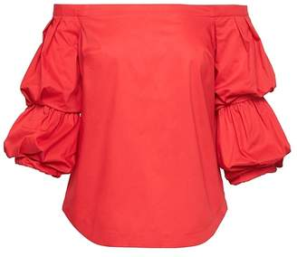 Banana Republic Petite Off-the-Shoulder Super-Stretch Shirt