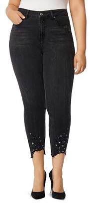 Wilson Rebel x Angels Plus Rebel x Angels Embellished Skinny Ankle Jeans in Doheny