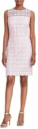 Lauren Ralph Lauren Geometric Lace Sheath Dress $170 thestylecure.com