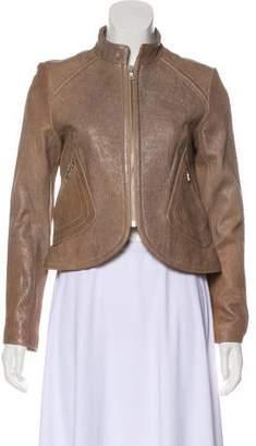 Andrew Marc Metallic Leather Jacket