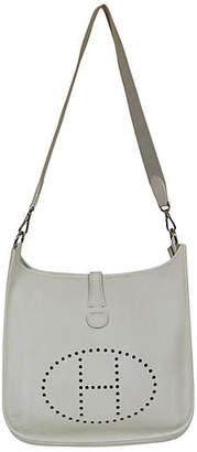 One Kings Lane Vintage Hermès White Togo GM Evelyne Bag