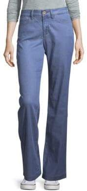 NYDJ Chambray Wide-Leg Trousers
