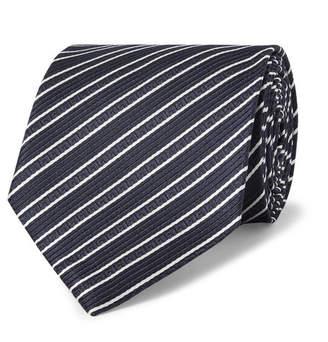 Ermenegildo Zegna 8cm Striped Silk-Jacquard Tie
