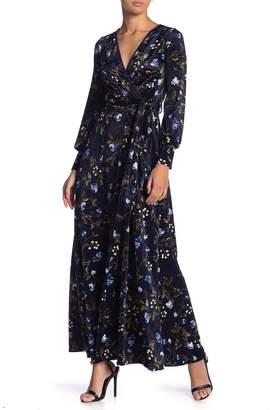 Couture Go Velvet Floral Maxi Dress