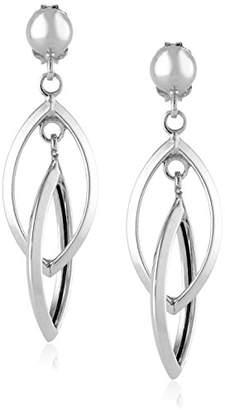 Marquis 14k Gold Double Drop Earrings