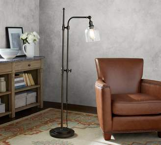 Pottery Barn PB Classic Articulating Floor Lamp with Textured Glass Shade