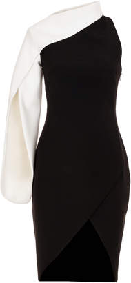 Genny One Sleeve Black And White Dress