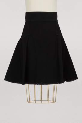 Alexander McQueen High waist denim skirt