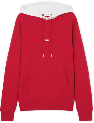Helmut Lang Hong Kong Taxi Printed Cotton-jersey Hoodie - Red
