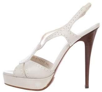 Saint Laurent Perforated Platform Sandals