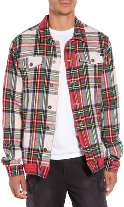 Scotch & Soda Tartan Plaid Trucker Jacket