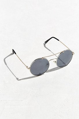 Urban Outfitters Metal Brow Round Sunglasses $22 thestylecure.com