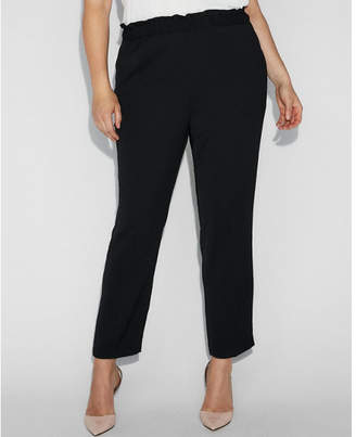 Express mid rise ruffle waist pull-on pant