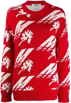 MSGM intarsia knit jumper