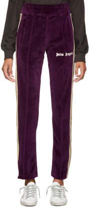 Palm Angels Purple Chenille Lounge Pants