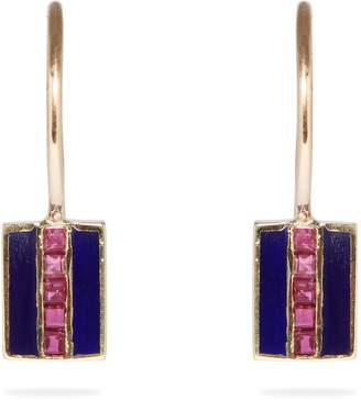 JESSICA BIALES Saxony ruby & yellow-gold earrings