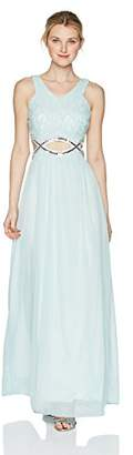 Speechless Full-Length Dress with Peek-a-Boo Jeweled Waist (Junior's)