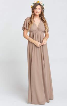 Show Me Your Mumu Faye Flutter Maxi Dress ~ Dune Chiffon