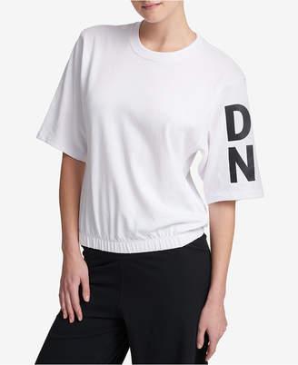 DKNY Sport Short-Sleeve Graphic Sweatshirt