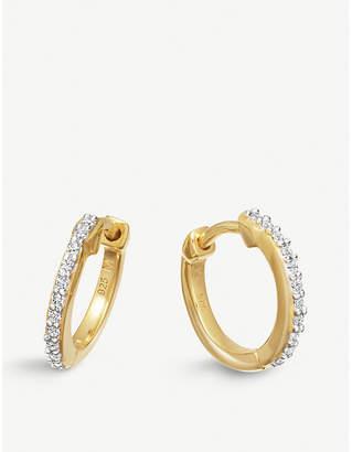 Missoma Ltd 18ct gold vermeil pave hoop earrings