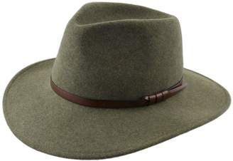 Classic Italy Classique Large Wool Felt Fedora Hat Size 58 cm Green-Chine